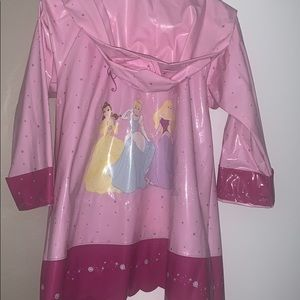 Girls Pink Disney  Princess Rain Jacket